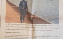 """Macky et la RTS pris en flagrants délits de diffusion de """"Fake News""""...plus de 100 millions payés pour une page publicitaire dans le Financial Times"""
