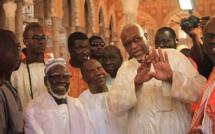 Le Khalife général des Mourides vient d'arrivée à la mosquée Massalikoul Jinaan
