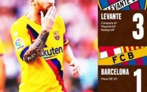 Liga : Levante fait couler le Barça en sept minutes (3-1)