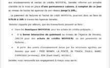 La Senelec informe sa clientèle de la mise en place d'une permanence caisses  (Communiqué)