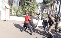 Guy Marius Sagna et Dr Babacar DIOP arrêtés devant les grilles du Palais
