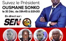 Suivez en DIRECT le plateau Spécial 31 décembre de la SEN TV avec Ousmane Sonko