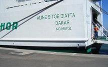 """L'enlisement du navire """"Aline Sitoé Diatta"""" fait suite à l'ouverture d'une enquête"""