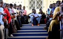 Les nouveaux bacheliers non orientés dans les rues de Dakar ce jeudi