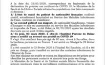 Le ministère de la Santé confirme un deuxième cas positif de Coronavirus à Dakar