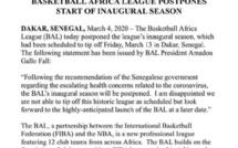 Propagation du #Coronavirus : Le lancement de la BAL à Dakar Aréna reporté