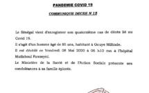 Le Sénégal enregistre sont 14e décès lié au Covid-19