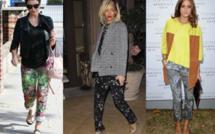 Rihanna, Olivia Palermo, Dannii Minogue : elles craquent sur le pantalon imprimé