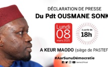 Direct de la déclaration de Ousmane Sonko