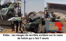 Vidéo - Les images du terrible accident sur la route de Fatick qui a fait 7 morts