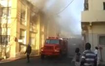Place de l'Indépendance : Incendie à l'immeuble abritant la BICIS