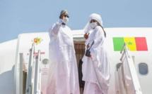 Macky Sall, en compagnie de son épouse Marieme Faye Sall, est arrivé, lundi soir à Nouakchott
