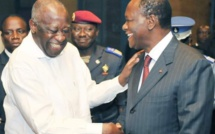 Vidéo - Gbagbo et Ouattara tout sourire, tout copain copain