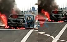 Gamou 2021: Un véhicule prend feu sur l'autoroute Ila Touba