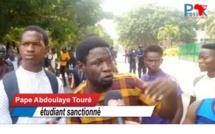 Ucad: le point de presse organisé par les étudiants sanctionnés interrompu par des vigiles  (Vidéo)