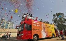 Le BJP de Narendra Modi donné gagnant aux législatives en Inde