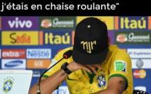 CDM 2014- Video- Neymar en pleurs : « A deux centimètres près, j'aurais pu finir sur une chaise roulante...»