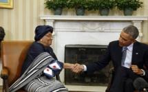 Ebola: Ellen Johnson Sirleaf à Washington remercie Obama pour son aide