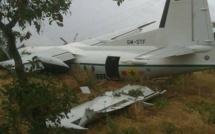L'image du crash de l'avion de l'armée sénégalaise à Kaye