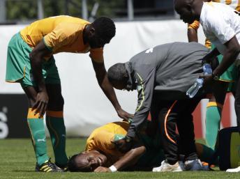 Foot:Drogba a repris difficilement l'entrainement