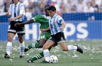 Foot: Nigeria, triste souvenir pour Maradona